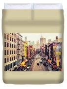 New York City - Chinatown Street Duvet Cover