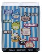 New York City Eatery Duvet Cover