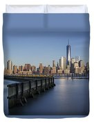 New York City Financial District Duvet Cover