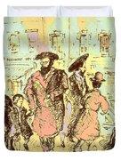 New York City Jews - Fine Art Duvet Cover