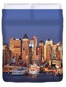 New York City Midtown Manhattan At Dusk Duvet Cover