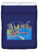 New York City Nights Duvet Cover