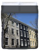 New York City Rainbow Row Duvet Cover