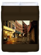 New York City - Rainy Afternoon - Doyers Street Duvet Cover by Vivienne Gucwa