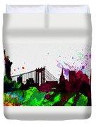 New York City Skyline 2 Duvet Cover