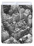 New York City - Skyline In The Snow Duvet Cover by Vivienne Gucwa