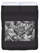 New York City - Skyline In The Snow Duvet Cover