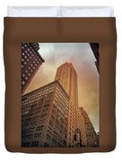 New York City - Skyscraper And Storm Clouds Duvet Cover