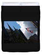 New York City Stars And Stripes Duvet Cover