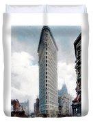 New York City - The Flatiron Building - Fifth Avenue - 1904 Duvet Cover