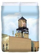 New York City Water Tower 4 - Urban Scenes Duvet Cover