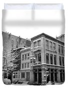 New York City Winter - Snow In Soho Duvet Cover