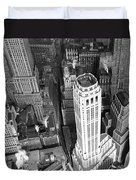New York Financial District  Duvet Cover