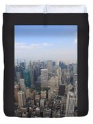 New York From Above Duvet Cover