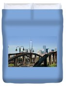 New York From New Jersey - Image 1633-01 Duvet Cover