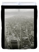 New York From The Trade Towers Duvet Cover