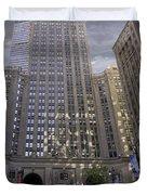 New York In Vertical Panorama Duvet Cover