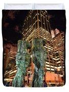 New York - Looking Toward The Avenue Duvet Cover