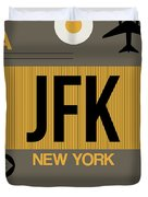 New York Luggage Tag Poster 3 Duvet Cover by Naxart Studio