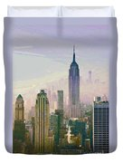 New York Misty Morning Duvet Cover