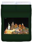 New York New York Hotel And Casino Duvet Cover