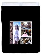 New York Nyc Collage Duvet Cover