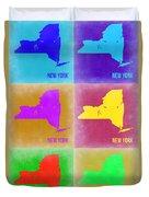 New York Pop Art  Map 3 Duvet Cover