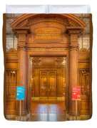 New York Public Library Main Reading Room Entrance I Duvet Cover