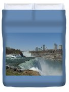 New York Side Of Niagara Falls Duvet Cover