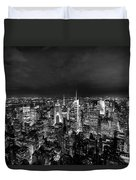 New York Skyline 3bw Duvet Cover