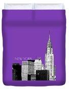 New York Skyline Chrysler Building - Purple Duvet Cover