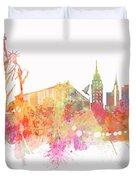 New York Skyline City Duvet Cover