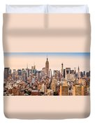 New York Skyline Panorama Duvet Cover