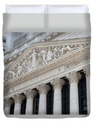New York Stock Exchange I Duvet Cover by Clarence Holmes