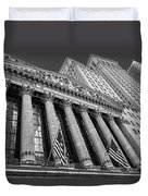 New York Stock Exchange Wall Street Nyse Bw Duvet Cover