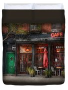 New York - Store - Greenwich Village - Sweet Life Cafe Duvet Cover