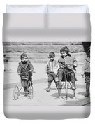 New York Street Kids - 1909 Duvet Cover