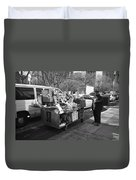 New York Street Photography 5 Duvet Cover by Frank Romeo