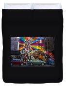 New York Street Scene Duvet Cover