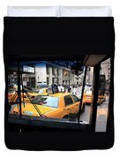 New York Taxi Cabs Duvet Cover