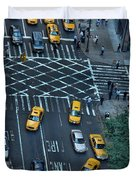 New York Taxi Rush Hour Duvet Cover