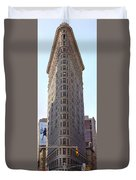 New York - The Flat Iron Building Duvet Cover