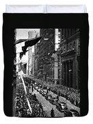 New York Ticker Tape Parade Duvet Cover