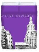 New York University - Washington Square Park - Purple Duvet Cover