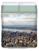 New York View Towards Jersey Duvet Cover