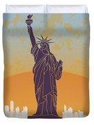 New York Vintage Poster Duvet Cover