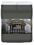 New York - Wall Street Panoramic Duvet Cover