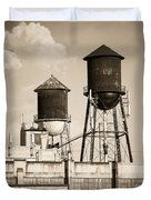New York Water Tower 8 - Williamsburg Brooklyn Duvet Cover