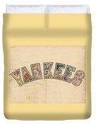 New York Yankees Poster Art Duvet Cover