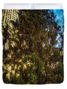 New York's Holiday Tree Duvet Cover